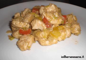 Pollo ai peperoni e porri in salsa di soia
