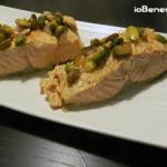 Salmone con pistacchi e zafferano