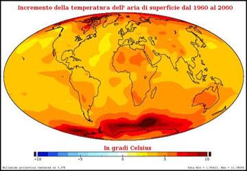 Aumento temperature nel 2060