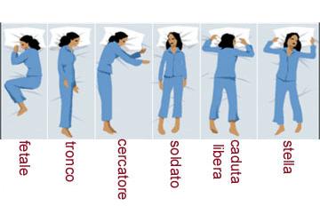 Posizione sonno personalità