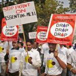 India protesta farmaco
