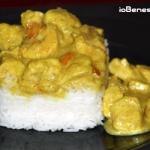 Pollo e gamberi al curry