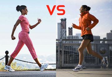 Meglio camminare o correre?