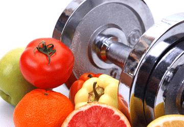 Allenamento alimenti sani