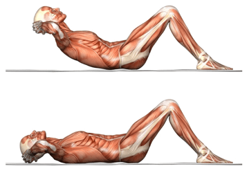 Come fare gli addominali crunches senza dolore al collo o mal di schiena